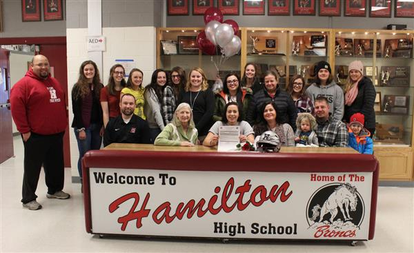 Hamilton student awarded two-year, full - ride softball scholarship